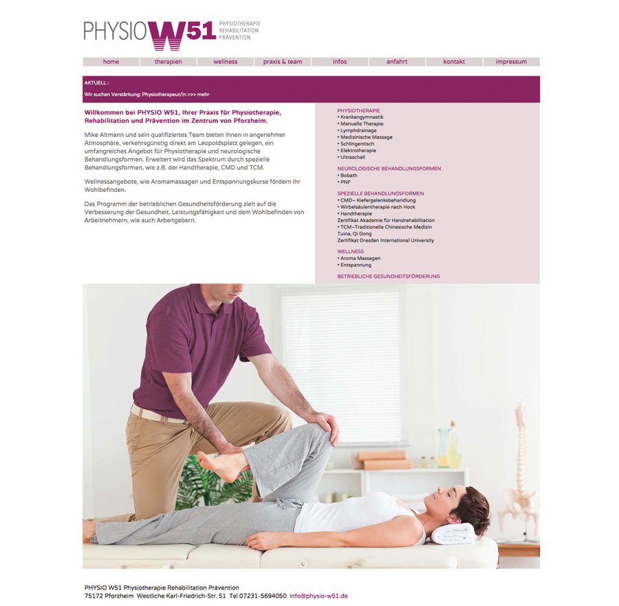 Physio W51 Website