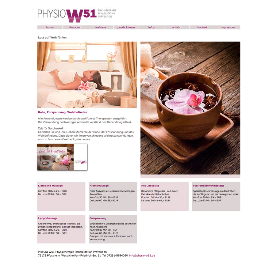 Physio W51 Website/Wellness