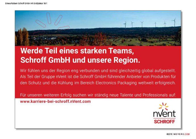 Schroff GmbH HR-Plakat (projektiert)
